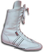 White leather boxing boots